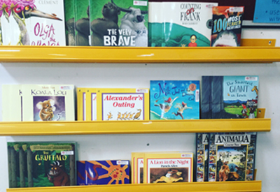 A selection of reading books.